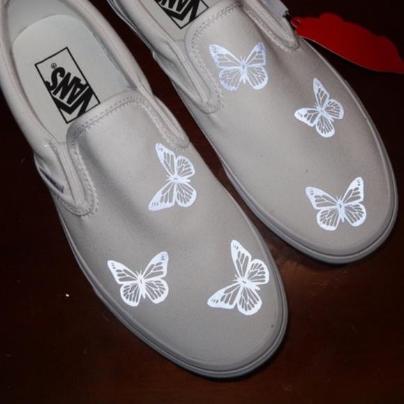 Slip On Reflective Butterfly Vans
